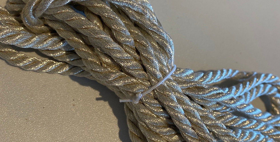 Champagne Lurex Cord Remnant