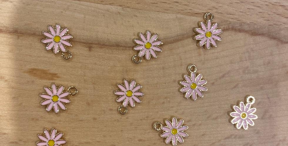 pink mini sunflower charm