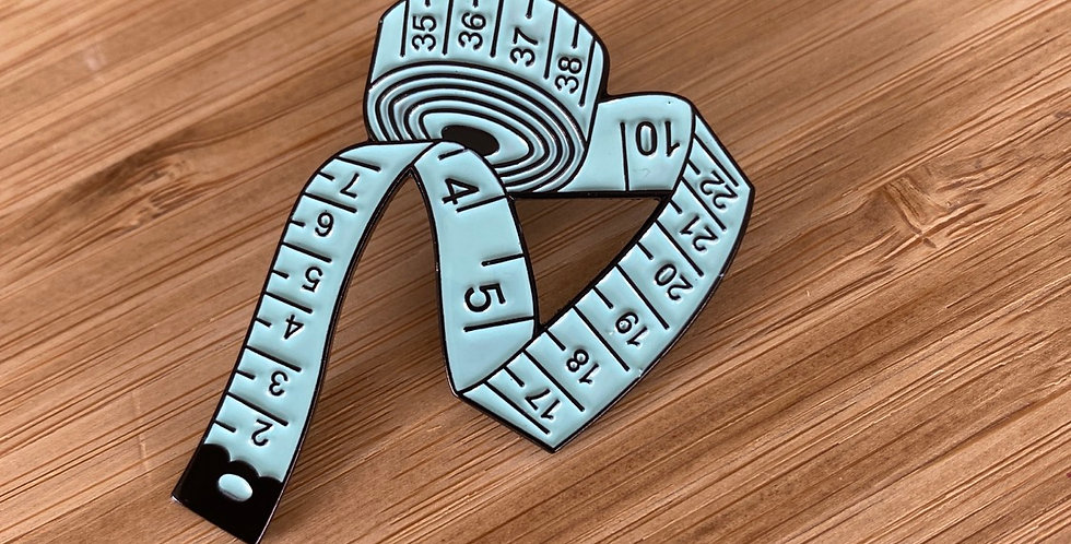 measure up enamel pin teal