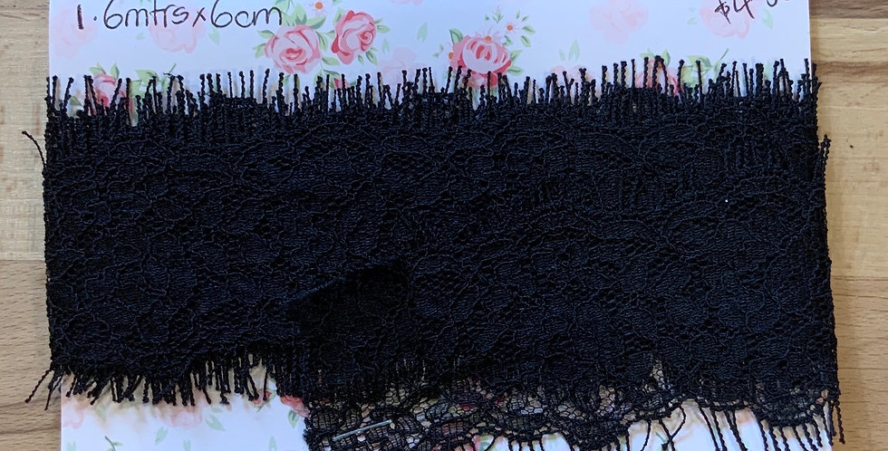 Black Chantilly Lace Remnant