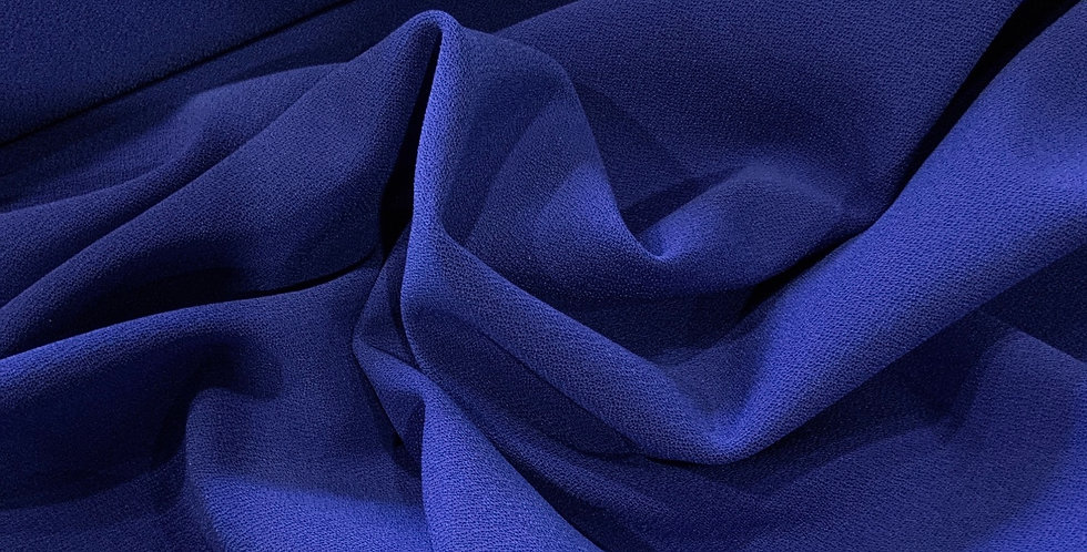 Cobolt Blue Heavy Double Fused Stretch Crepe Knit...