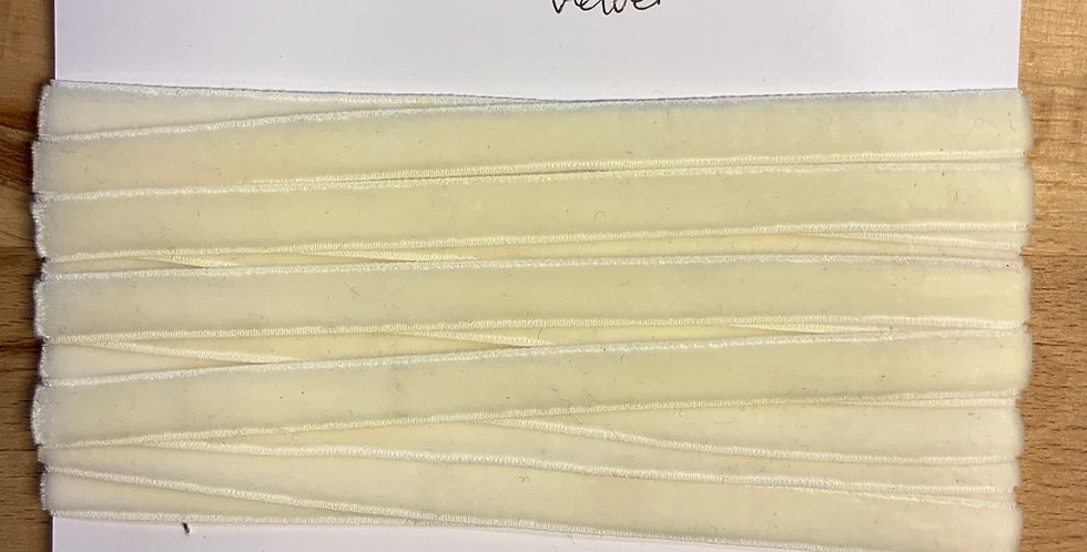 Cream Stretch Velvet Ribbon