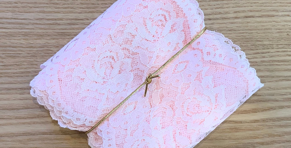 5mtr Bundle Pink Wide Roses Vintage Lace...