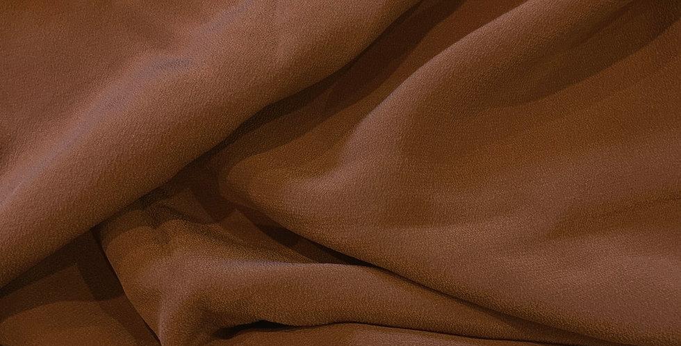 Rust Silk Crepe de Chine Remnant...