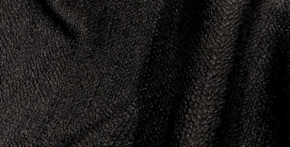Noir luxe textured weave polyester suiting