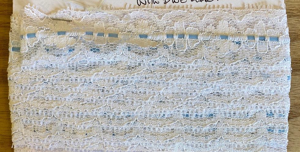 vintage English nylon lace remnant