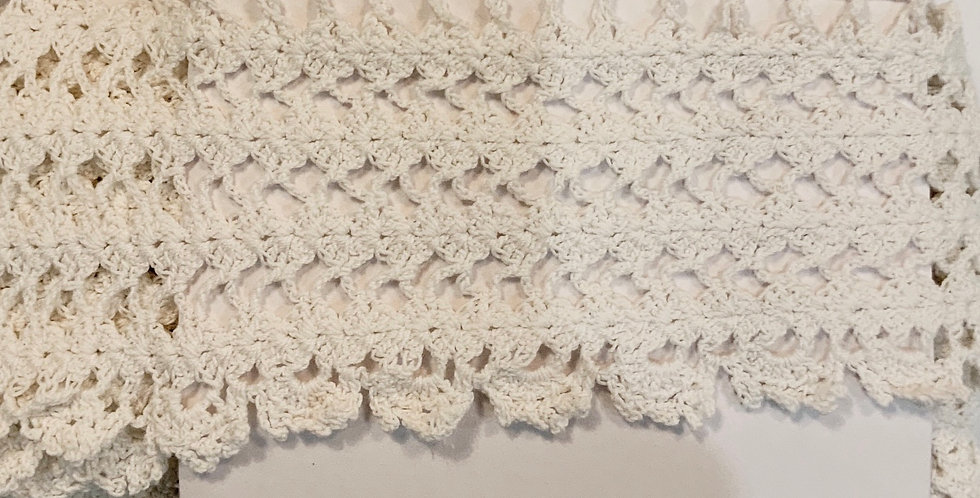 Vintage White Handworked Lace...
