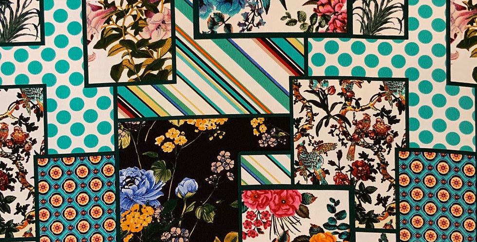 Spring Collage Lightweight Crepe...