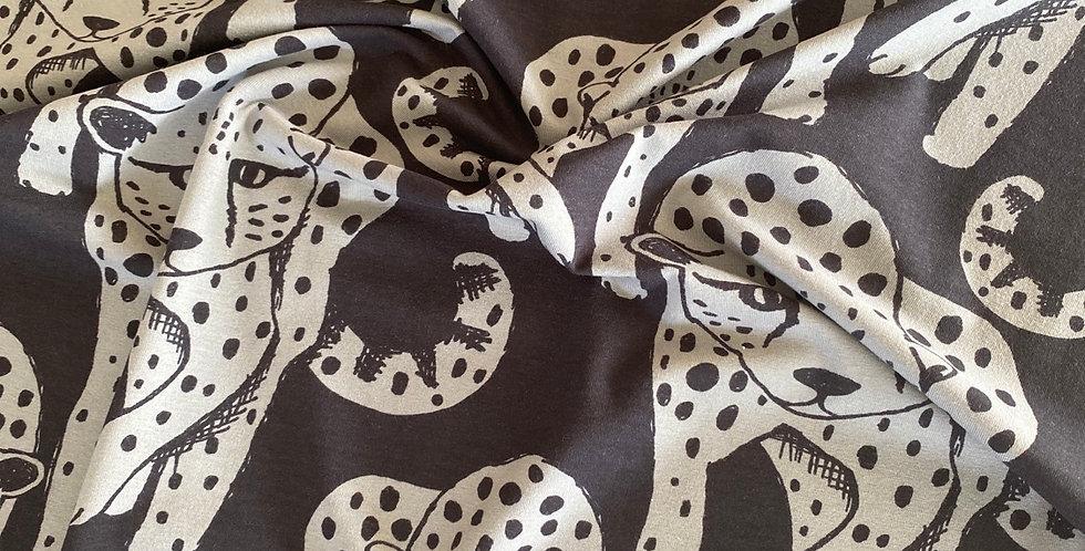 Paapii cheetah organic jersey charcoal black