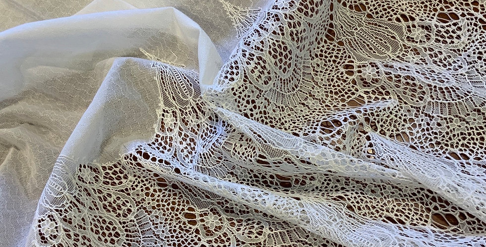 White Winchester Border Lace Remnant...