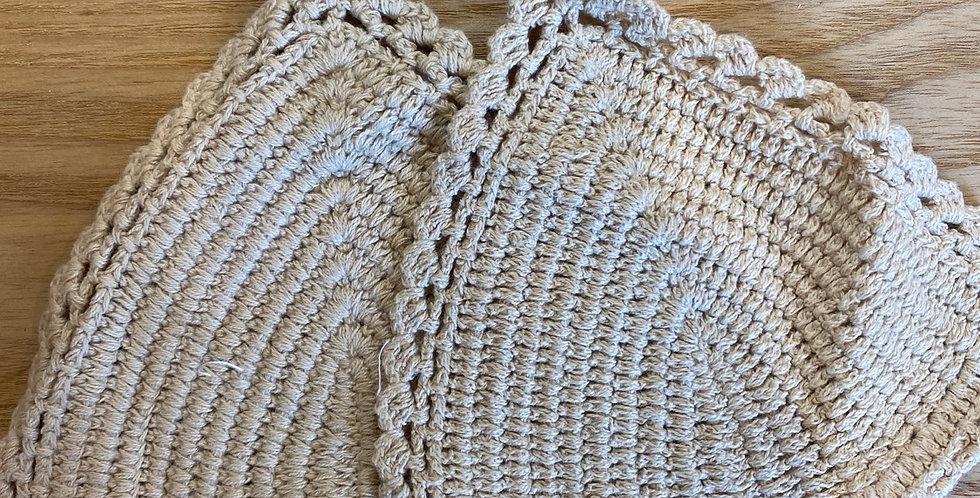 wheat cotton crochet bikini triangles