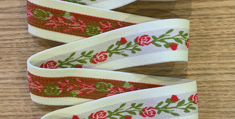 Rose Trellis Soft Strapping Elastic...