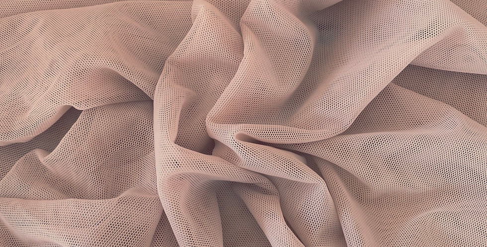 Dusty pink stretch mesh