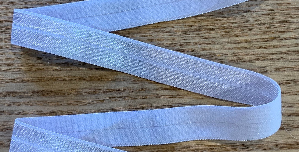 Cloud Grey 15mm Satin Finish Foldover Elastic...