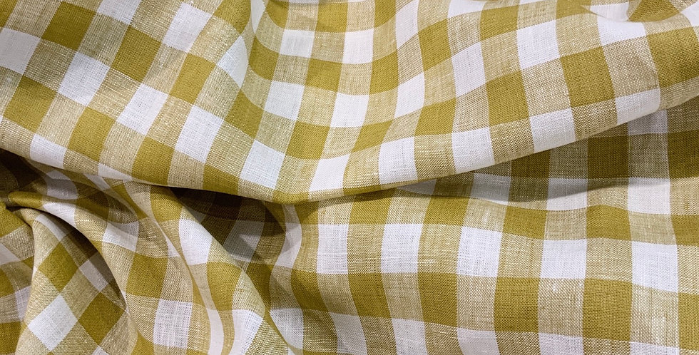Chartreuse Linen Check ...