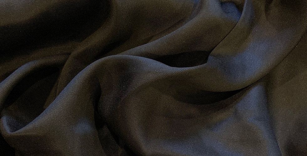 Black Polyester Viscose Sheen Twill Suiting Remnant