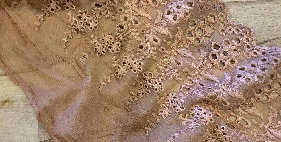 Adalina Sienna Hand Dyed Embroidered Silk…