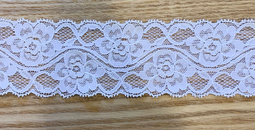 Sally White Stretch Lace...