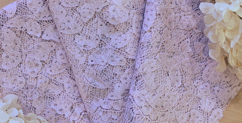 Pale Mocha Pink Hand Dyed French Butterfly Lace 50cm Piece...