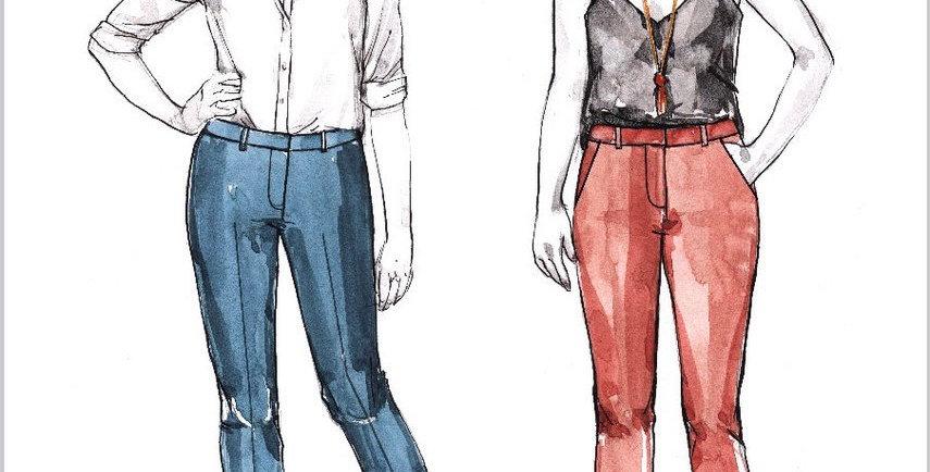 Closet Core SASHA TROUSERS Printed Pattern…