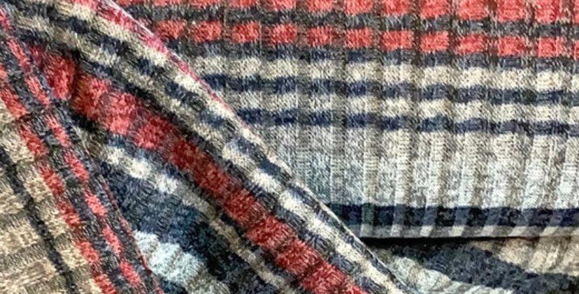 Striped Rib Fine Jumper Knit