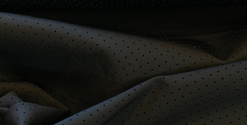 Black Perforated Dots Scuba Lycra....