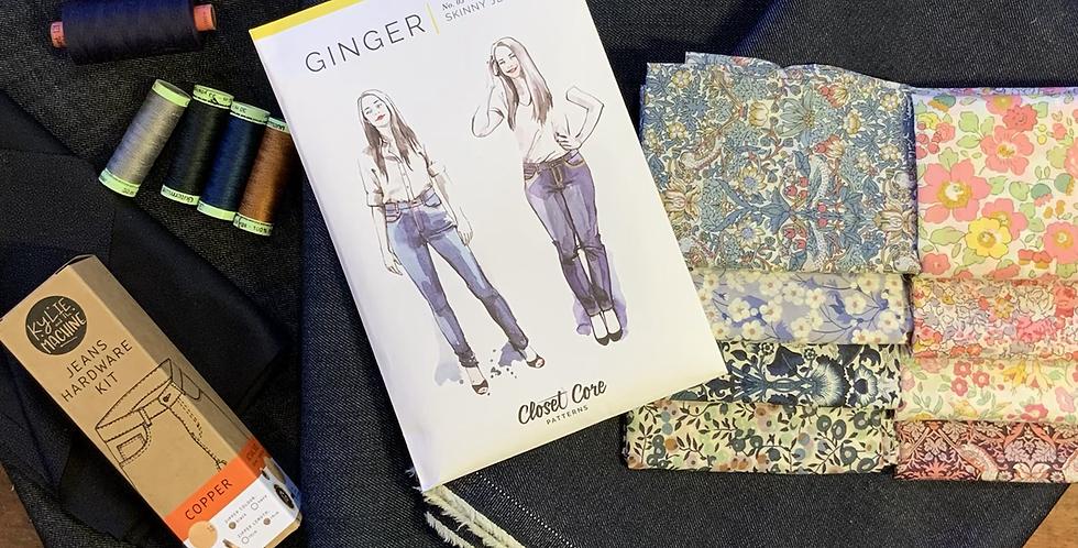Ginger jeans starter kit *liberty lining