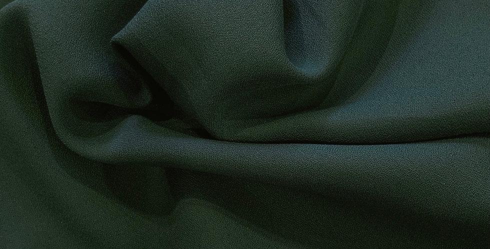 Bottle Green Polyester Crepe Georgette Remnant..