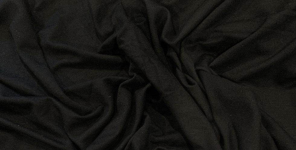 Black Viscose Jersey Remnant