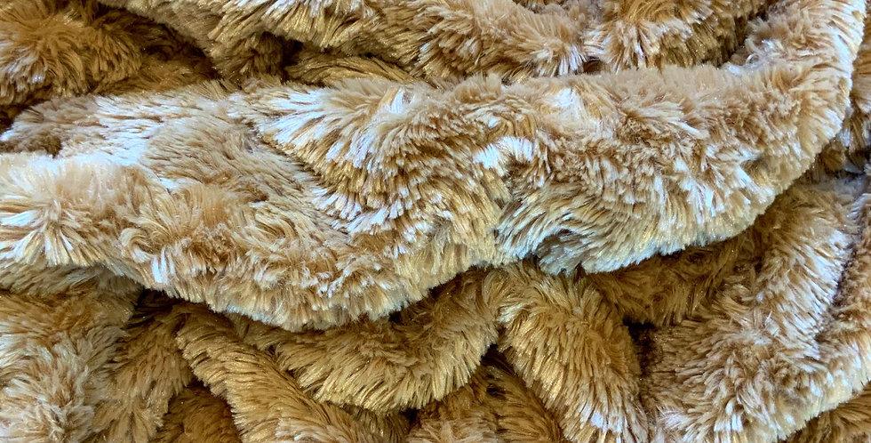 Low Pile Lightweight Softest Caramel Fur Piece....