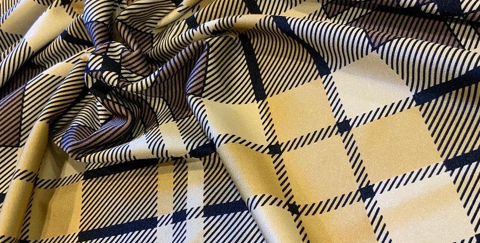 Designer Tartan Printed Lycra...