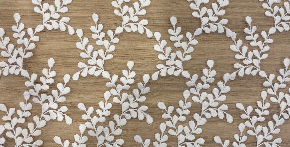 Snow drop embroidered mesh