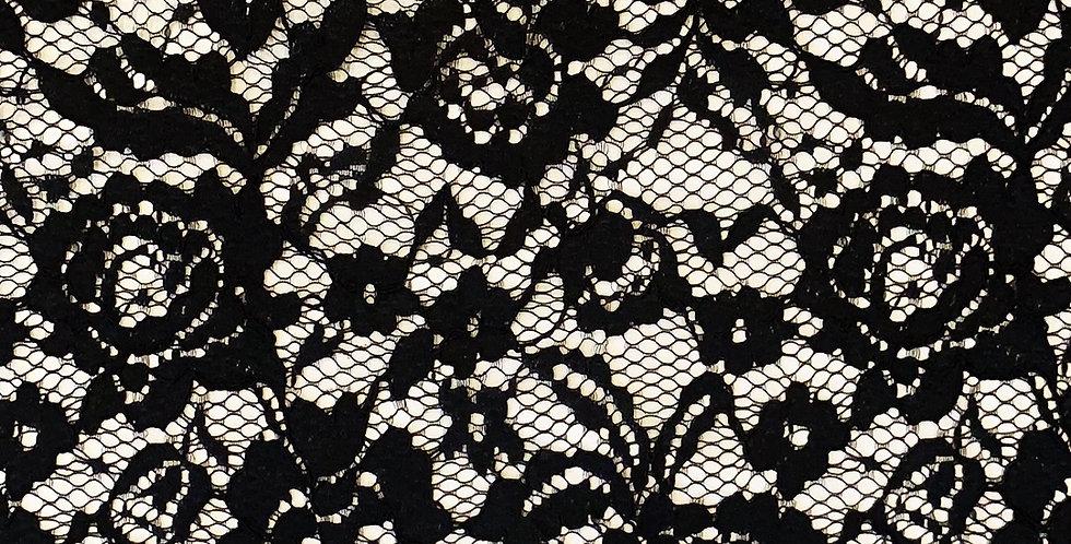 Veronica Black Scallop Lace...