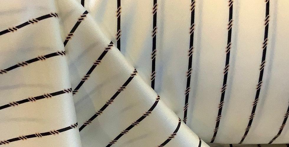 Monochrome Stripe De-lustred Satin ...