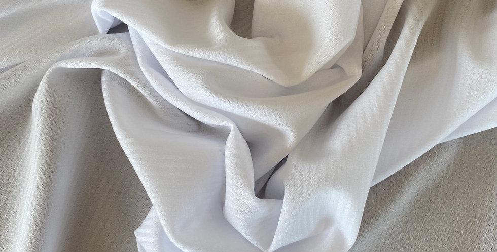 White 4 way stretch swimwear lining