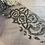Thumbnail: Antique Bronze Roses Tulle Trim...3mtr piece