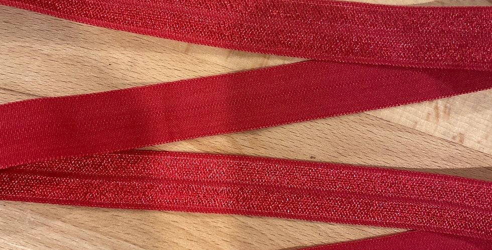 cherry red 15mm foldover elastic