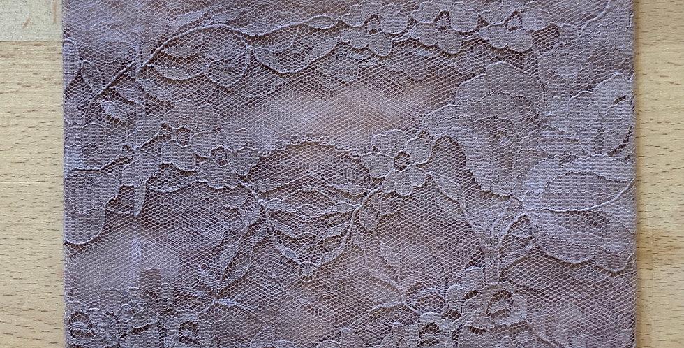 Mocha Hand Dyed Nylon Lace Remnant