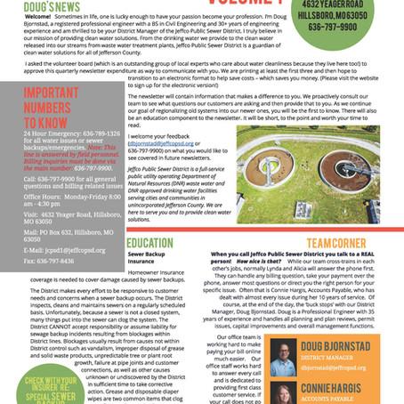 Newsletter VOLUME 1