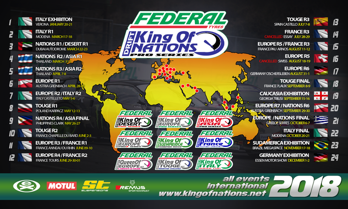 King of Europe Round 5 cancellation information