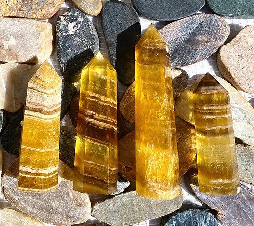 Yellow Fluorite Point
