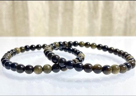 Black Obsidian with Gold Sheen Bracelet