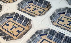 3D Laser Cut Stadium