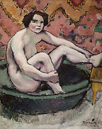 Nude Seated in a Bathtub 1910 Marcel Duc