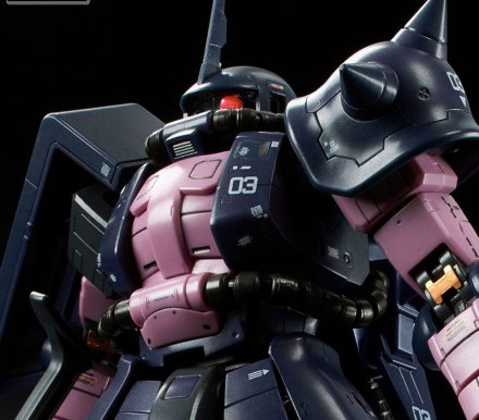 P Bandai RG 1/144 MS-06R-1A Black Tri Stars Release Info
