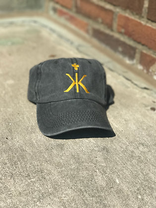 Kindred Klub's Charcoal Dad Cap w/ Gold Logo