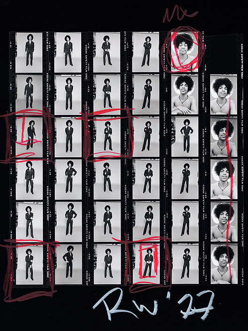 Proofsheet II from Studio Session with Prince Minneapolis, 1977