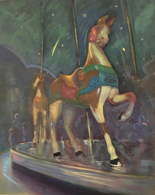 Original Horse Glen Echo Carousel