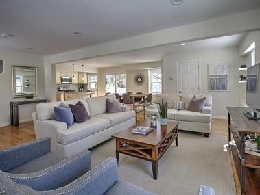 Staged living room Mendham NJ