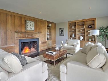 Staged Living room in Tewksbury, NJ